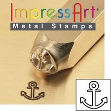 Metal stamp, punch, anchor, 6mm, metal jewellery stamping