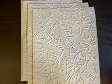 STAMPIN UP+ (4) DEEPLY EMBOSSED LEAF CARDFRONT, BACKGROUND, PHOTO MAT.