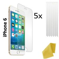 5 x Clear Plastic Screen Guard LCD Protector Film Layer - Apple iPhone 6