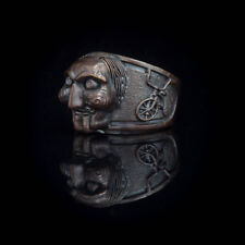 Saw Horror Ring, Billy the Puppet, bronze, handmade