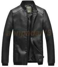 Hot Mens Leather Jacket Black Slim Fit Biker Motorcycle Fashion Outwear Coat PU