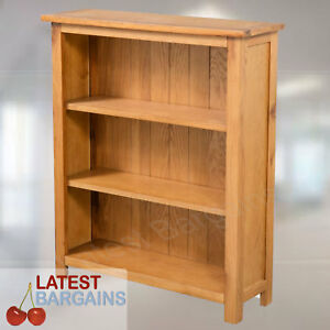 3 Tier Wooden Bookcase Book Shelf Furniture Storage Timber Oak Display Unit