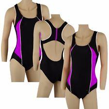 ACCLAIM Pisa Ladies Girls Racer Back Shelf Bra Swimming Costume Swim Suit
