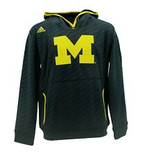 Michigan Wolverines Official NCAA Adidas Kids Youth Size Hooded Sweatshirt New