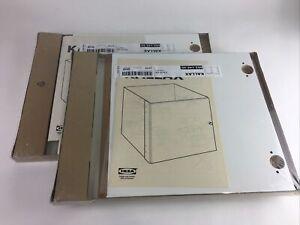 """2x Ikea Kallax White Storage Shelf Insert 403.146.40 33 x 33cm 13"""" x 13"""""""