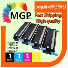 4x Toner Cartridge C9730A C9731A C9732A C9733A for HP Laserjet 5500 5500n 5550