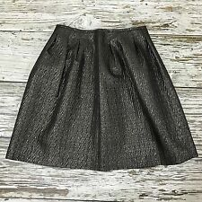 NEW ETRO Metallic Sliver Grey A-Line Puff Skirt Party Evening Size UK 10 0826