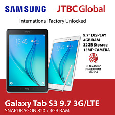 New Samsung Galaxy Tab S3 9.7 Inch SM-T825 13MP 32GB Factory Unlocked Tablet