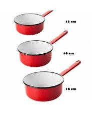 VITRINOR Lot de 5 casseroles /émail Rouge Induction Interieur facon Pierre