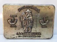 Vintage TOBACCO advertising, CIGAR CASE / TIN Van Rossem's Dutch Pipe  5 x 3 1/2