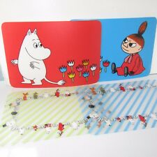 Rare Moomins Place Mats      Set of 4 Table Dining Kitchen      (Wipe Clean)