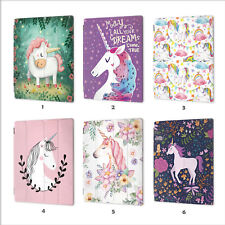 Unicorn Pink Leather Smart Case Cover iPad 2 3 4 5 6 Air mini 1 Pro 9.7 10.5 010
