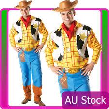 Toy Story Woody Costume Disney Adults Mens Fancy Dress Cowboy + Wild Western Hat