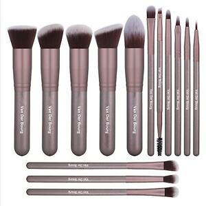 Van Der Bourg Professional Makeup Brushes Set of 14 with Storage Bag!