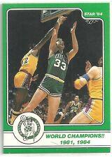 LARRY BIRD 1984 STAR COMPANY Boston Celtics BASKETBALL CARD #14