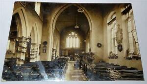 THETFORD St PETER'S CHURCH NORFOLK  REAL PHOTO POSTCARD c 1910     900