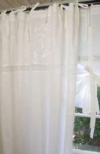 Vorhang EMILIA Weiß Gardine 140x300 cm 2 Stück LillaBelle Shabby Landhaus Vintag