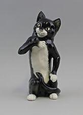 Porzellanfigur Stehende Katze schwarz/weiß Ens H27,5cm 9941639