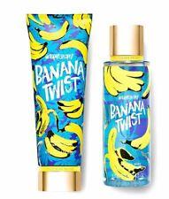 Victoria's Secret Banana Twist Fragrance Mist Body Cream Set New Free Shipping