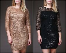 PLUS SIZE GOLDEN SEQUIN COCKTAIL PARTY EVENING HOLIDAY MINI DRESS NEW 1X