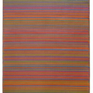 Cancun Multi Red Recycled Plastic Rug