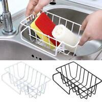 1* Kitchen Sink Sponge Soap Scrubber Storage Holder Organizer Rack I8M4