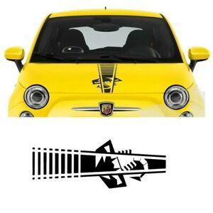 For FIAT 500 595 696 ABARTH SCORPION BONNET STRIPE VINYL DECAL STICKER