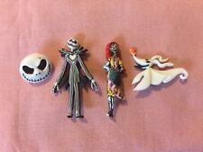 Disney Jack Skellington, Sally, Zero And Jack's Face Set Of 4 Pins