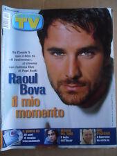 TV Sorrisi e Songs No. 15 2001 Raul Bova Gigi d' alessio Benicio Del Toro [d52]