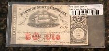 1864 North Carolina 50 Cent Fractional Currency Paper Money