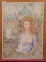 Bild Derartige Aquarell Frozen Porträt Akt Weiblich Zu Venedig Mit Tauben Ps