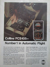 9/1972 PUB COLLINS RADIO COMPANY FCS-105 AUTOMATIC FLIGHT CONTROL SYSTEM AD