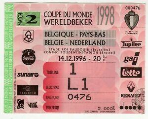Ticket Belgium - Netherlands 14.12.1996