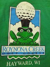 Vintage 90S ROYNONA CREEK GOLF COURSE HAYWARD, WI, Made In USA medium t-shirt M