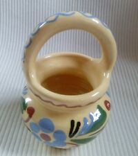 hand painted pottery couldron pot/decorative ornament