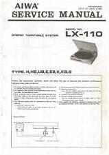 AIWA LX-110 LX 110 - TURNTABLE - SERVICE MANUAL IN COLOR VERSION - REPAIR -