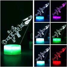 Rocket Launcher 3D Optical Illusion Colour Changing LED Lamp New