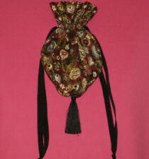 Handmade purse/bag/tote - Evening bag/Gift bag - Jewels - Burgundy