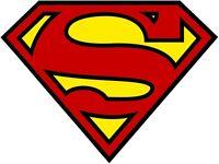 Superman Logo Decal Die cut Vinyl Sticker 4 Stickers 4 inches