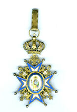 ORDER OF ST SAVA 2ND TYPE, GREEN ROBE (N.R.) (SERBIA)