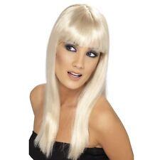 Adult Ladies Glamour Long Wig Fringe Celebrity Star Drag Fancy Dress Accessory