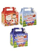 10 Christmas Party Lunch Boxes Childrens Treats Bags Santa Fillers Snow Xmas Fun