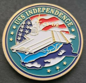 CV-62 USS INDEPENDENCE Challenge Coin FREE COIN STAND AND BRAND NEW FITTED COIN