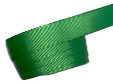 "5 yards Emerald green 5/8"" grosgrain ribbon by the yard Diy hair bows"