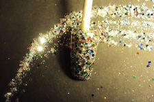 glitter mix acrylic gel nail art Cosmo