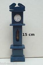 horloge,comtoise en bois miniature,maison de poupée,vitrine,meuble salon *B5