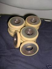 Lot Of Ten Coated Steel Rollers Wheels