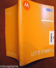 Vendo solo MANUALE originale NUOVO PER MOTOROLA GSM IN Italiano COME DA FOTO