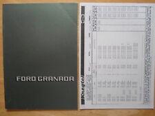 FORD Granada Mk1 prestige brochure prospekt 1980 + Price List - Dutch market