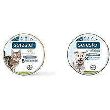 Bayer Seresto Flea And Tick Collar For Small Dog Cat (all Sizes) Bundle, 8 Month